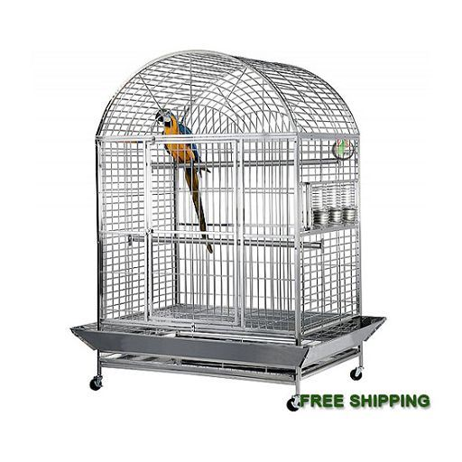 44x32D- 304 Stainless Steel DomeTop Bird Cage