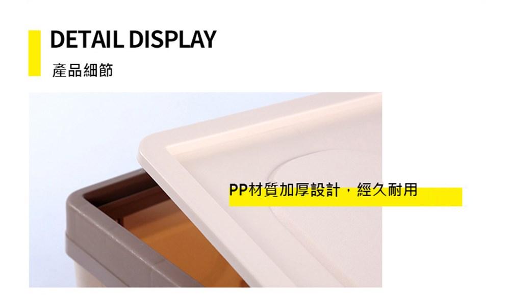 DETAIL DISPLAY。產品細節。PP材質加厚設計,經久耐用。