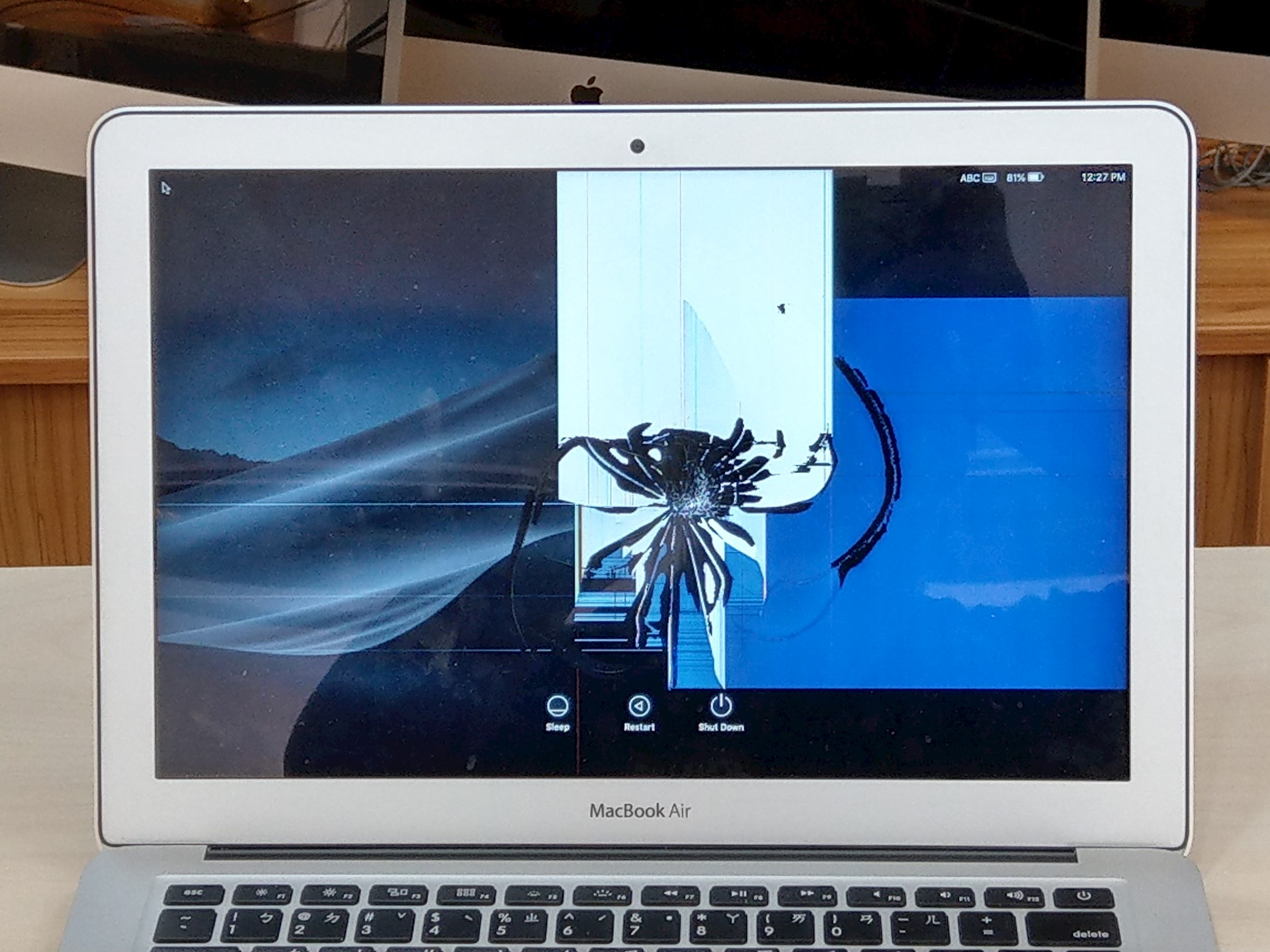 Mac螢幕破裂
